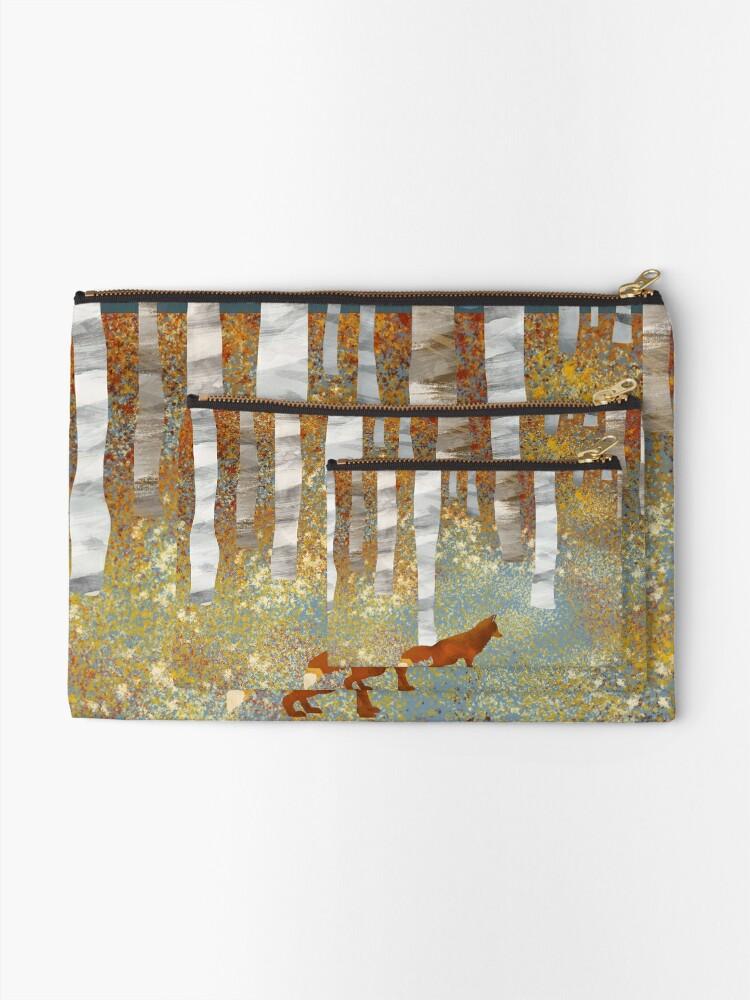 Alternate view of Autumn Fox Zipper Pouch
