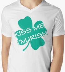Kiss me I'm Irish Men's V-Neck T-Shirt