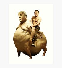Putin reitet Trump Kunstdruck