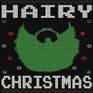 Hairy Christmas Beard Ugly Sweatshirt by EthosWear