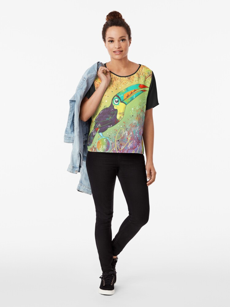 Alternate view of Toucan Can Do it! Chiffon Top