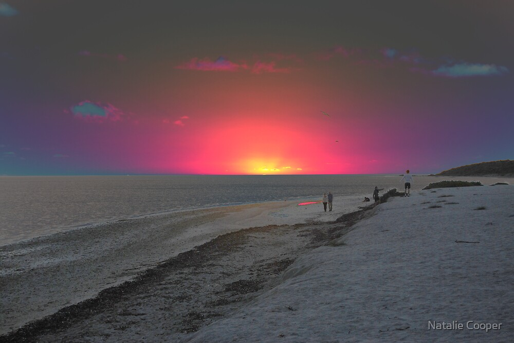Psychedelic Sunset by Natalie Cooper