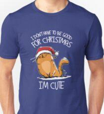 Cute Cat For Christmas Unisex T-Shirt