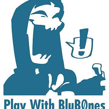 Original BluB0nes Logo Blu by Blub0nes