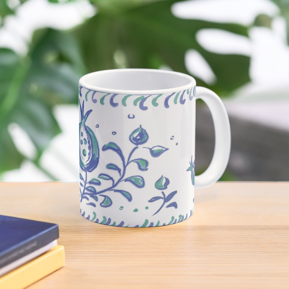 Granada Pottery - Albayzin Style - Symbol of Life, Love & Luck Mug