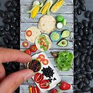 Mexican Food, Finger Sized by Stephanie KILGAST