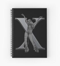Stripped X Spiral Notebook