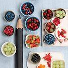 Berries!! Cherries, Strawberries, Gooseberries & a Pencil by Stephanie KILGAST