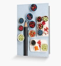 Berries!! Cherries, Strawberries, Gooseberries & a Pencil Greeting Card