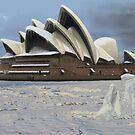 Sydney Opera House Snowstorm by watertigerleo