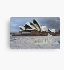 Sydney Opera House Snowstorm Canvas Print
