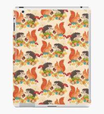 Hedgehog and Fox Art, Autumn Woodland Creature Animals  iPad Case/Skin