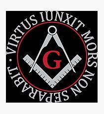 Freemasonry symbol Photographic Print