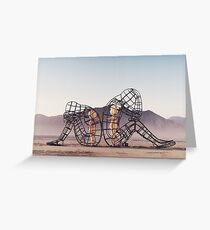Black Rock Desert Event - Burning Man installation Greeting Card