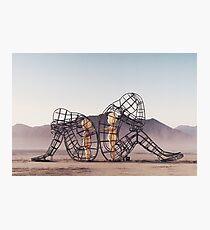 Black Rock Desert Event - Burning Man installation Photographic Print