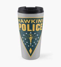Hawkins Police Department Badge (Distressed / Grunge) Travel Mug