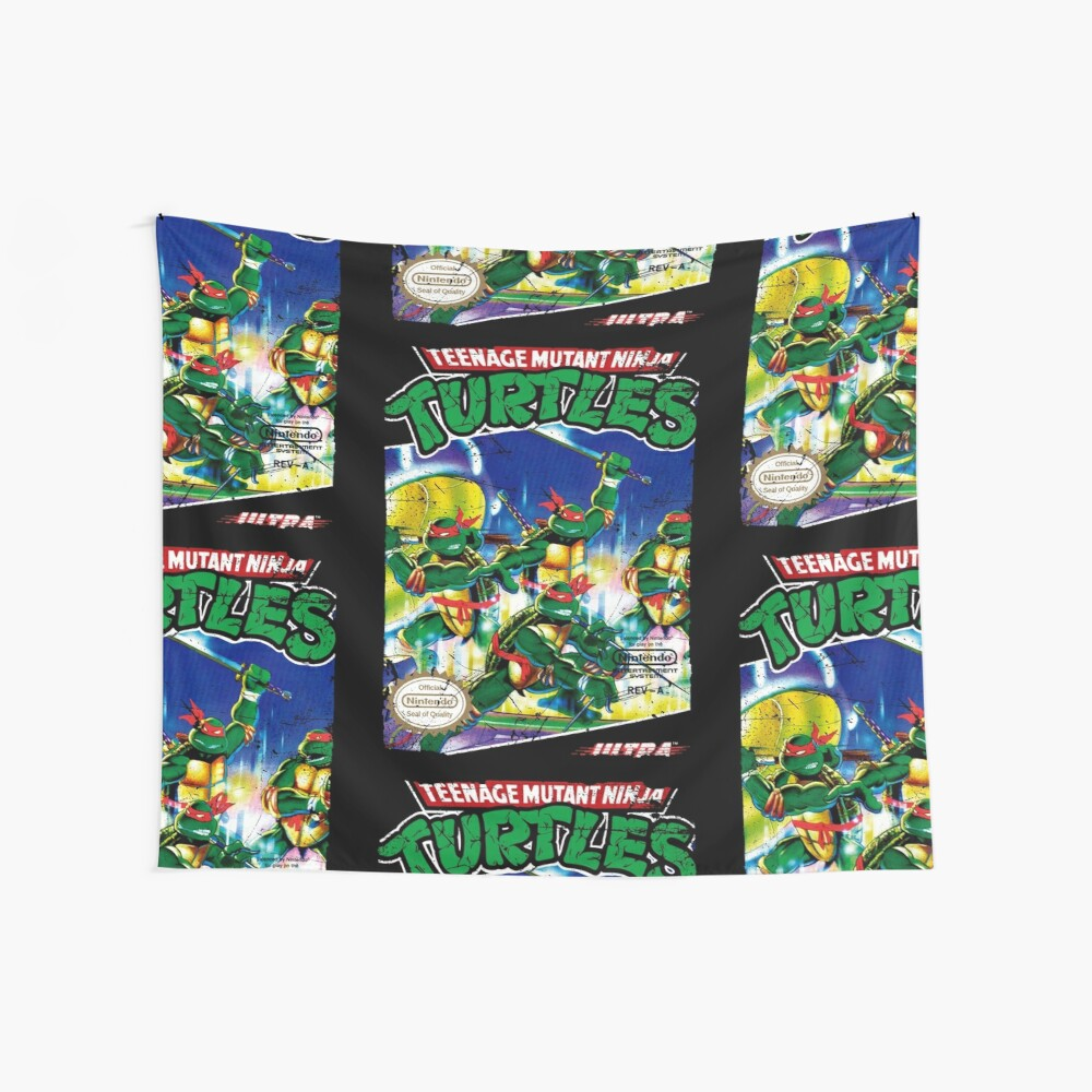 TMNT NES COVER   Wall Tapestry