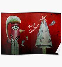 Pinguino de la Navidad Poster