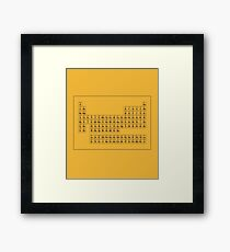"Periodic Table on Yellow - ""Dustin"" Framed Print"