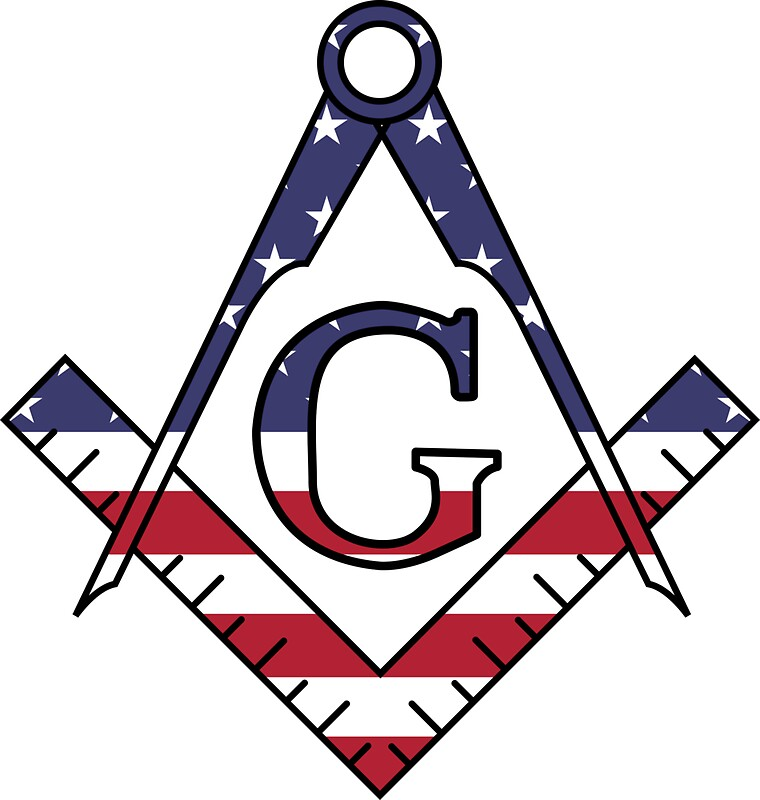 Masonic Symbol American Flag Stickers By Igorsin Redbubble