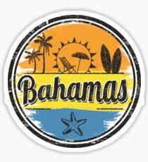 Bahamas Travel Destination Stamp Sticker