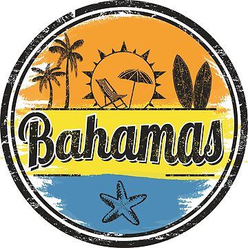 Bahamas Travel Destination Stamp by DV-LTD