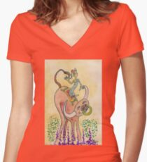 Having fun with my Buffalo Women's Fitted V-Neck T-Shirt