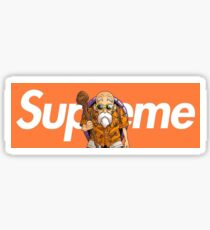 TORTUE GENIAL X supreme Sticker