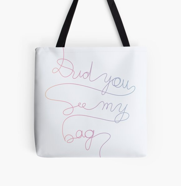 BTS MIC Drop - Did You See My Bag #1 All Over Print Tote Bag