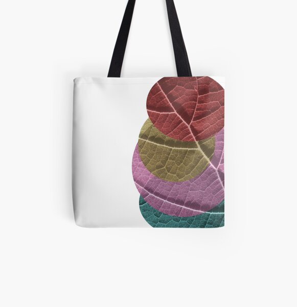 Leaf Collage All Over Print Tote Bag