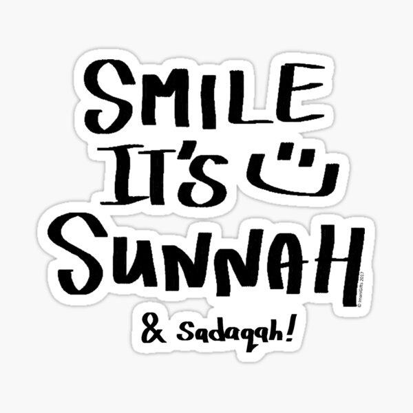 Smile it's Sunnah & Sadaqah I Sticker