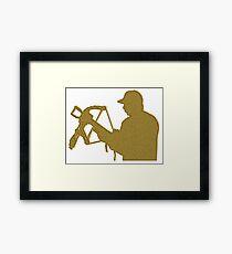 Golden Crossbow Framed Print