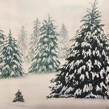 Christmas Tree Forest by ArtbyDedeConrad