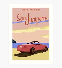 San Junipero Travel Poster Art Print