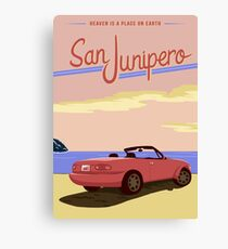 San Junipero Travel Poster Canvas Print