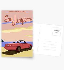 San Junipero Travel Poster Postcards