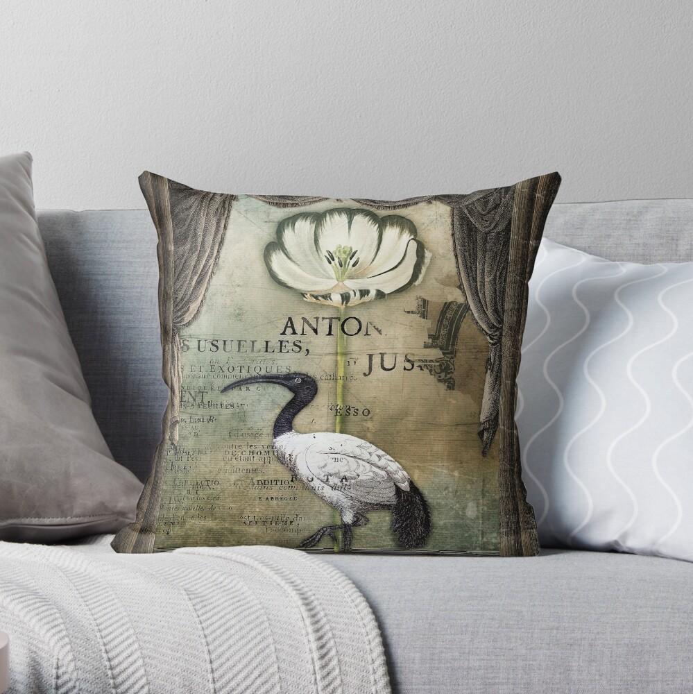The Ibis Throw Pillow