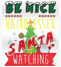 Funny Hairdresser Xmas Christmas Gift Idea Poster