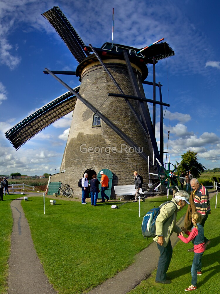 A Kinderdijk Windmill  by VeryIreland