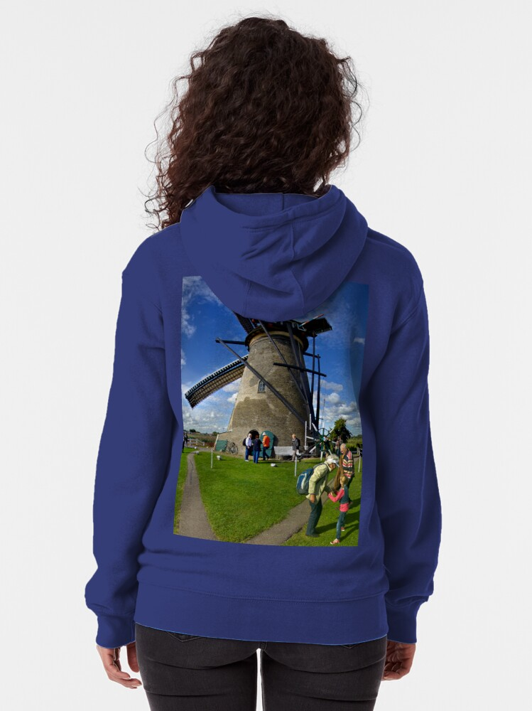 Alternate view of A Kinderdijk Windmill  Zipped Hoodie