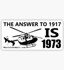 The Answer To 1917 Sticker