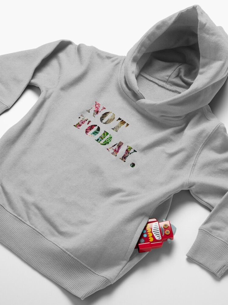 Alternate view of Not Today Toddler Pullover Hoodie