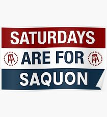 Saturdays are for Saquon Poster