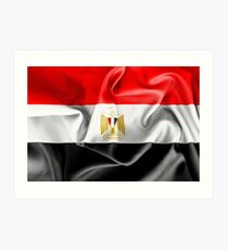 Egypt Flag Art Print