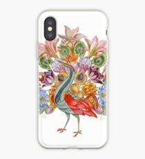 Botanical Watercolor Peacock  iPhone Case
