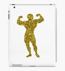 Golden Bodybuilding Sticker iPad Case/Skin