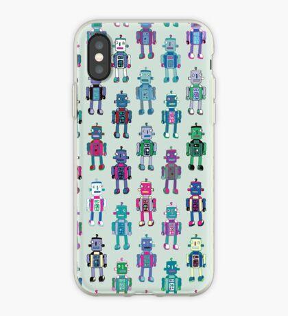 GoggleBots - robot pattern - fun pattern by Cecca Designs iPhone Case