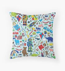 TOYS - fun pattern by Cecca Designs Throw Pillow