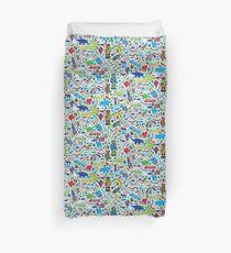 TOYS - fun pattern by Cecca Designs Duvet Cover