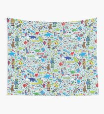 TOYS - fun pattern by Cecca Designs Wall Tapestry